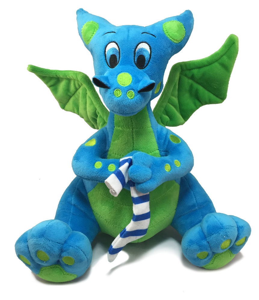 Eated It Blue Baby Dragon Plushie