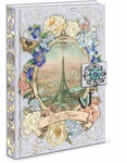 Eiffel Vignette Brooch Flap Journal