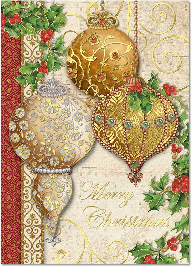 elegant ornaments christmas cards - Elegant Christmas Cards
