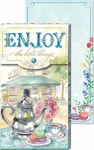 'Enjoy' Tea Set Pocket Notepad