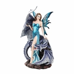 Fairy with Dragon & Crystal Ball