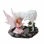 Fairy & Unicorn at a Pond