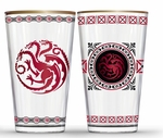 Fancy Targaryen Pint Glass Set: Game of thrones