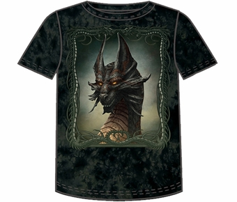 Fantasy Black Dragon T-shirt