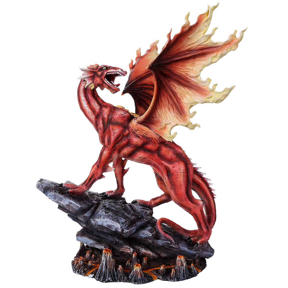 9 Dragon Flame Of Recca Dragons: Fire Dragon Figurine: Dragon Gifts & Collectibles