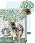 Fishbowl Cat Pocket Note Pad