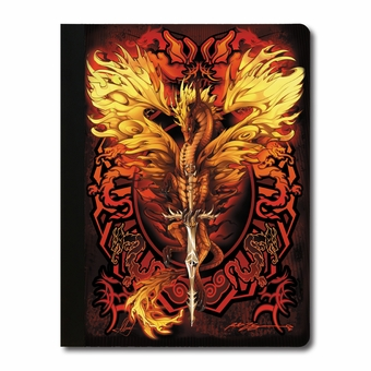Flame Blade Dragon Composition Notebook