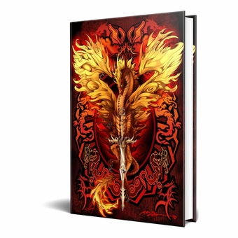 Flame Blade Embossed Dragon Journal