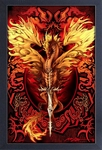 Flameblade Dragon Framed Print