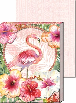 Flamingo Diecut Window Pocket Notepad