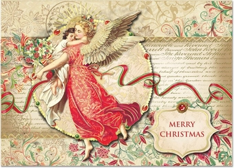 Floral Angel Christmas Cards