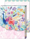 Floral Peacock Pocket Note Pad