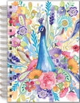 Floral Peacock Spiral Bound Journal