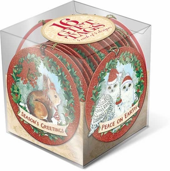 Forest Friends Gift Tag Cube