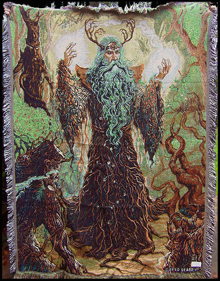 Forest Guardian Tapestry Throw Blanket By Ed Beard Jr