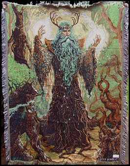 Forest Guardian Tapestry Throw Blanket