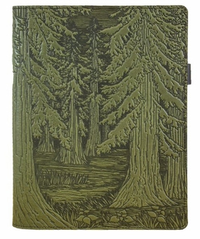 Forest Leather Composition Notebook