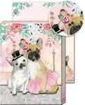 French Bulldog Couple Pocket Note Pad