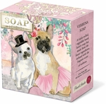 French Bulldog Verbena Pleat-Wrapped Soap