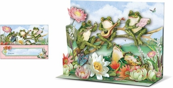 Frogs Pop-Up Card