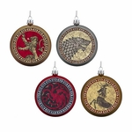 Game of Thrones House Crest Disk Ornaments