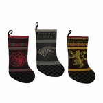 House Lannister Knitted Christmas Stocking