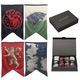 Game of Thrones House Sigils & Westeros Map Wall Banner Gift Set - Set of 4