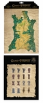 Map of Westeros and Map Marker Magnet Set