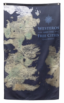Game of Thrones Map of Westeros Banner