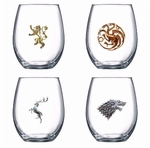 Game of Thrones Stemless Wine Glasses