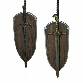 Game Of Thrones Oath Keeper and Longclaw Sword Ornaments
