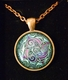 Glass Domed Knotwork Pendant