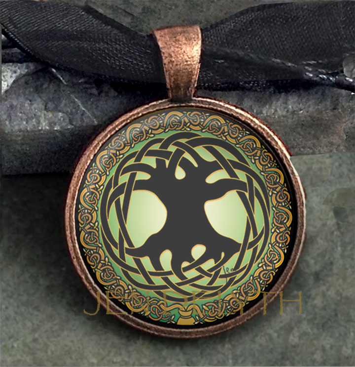 Glass domed tree of life pendant celtic gifts collectibles glass domed tree of life pendant aloadofball Images