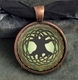 Glass Domed Tree of Life Pendant
