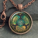 Glass Domed Yggdrasil Pendant