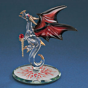 Glass Dragon with Fire