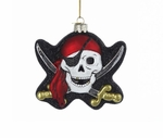 Glass Pirate Skull Ornament