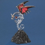 Glass Ruby Crystal Dragon