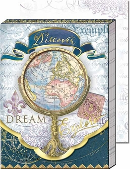 Globe Diecut Pocket Note Pad