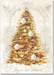 Golden Tree Christmas Cards