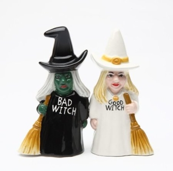 Good Witch Bad Witch Salt & Pepper Shaker