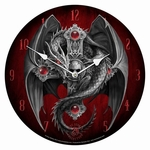 Gothic Guardian Wall Clock