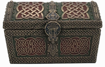Green & Red Celtic Trinket Box