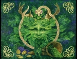 'Greenman Cernunnos'<BR>by Bill Plank