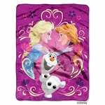 Happy Family Frozen Fleece Throw