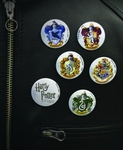 Harry Potter Pin Set of Hogwarts Crests