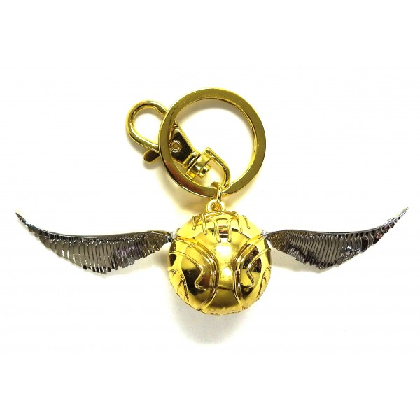 Harry Potter Book Keychain : Golden snitch pewter keychain harry potter gifts