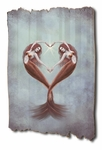 Heart Dance Tattered Wood Print