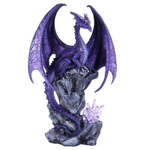 Hoarfrost Dragon Figurine With Led By Ruth Thompson