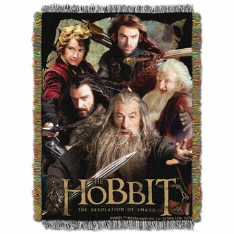 The Hobbit Fighting Company Tapestry Throw Blanket
